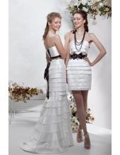 Bodenlang Preiswerte Elegante Brautkleider aus Taft 1216