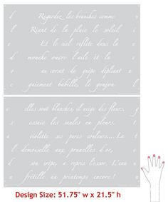 Wall Stencils Springtime in Paris Letter Stencil | Royal Design Studio