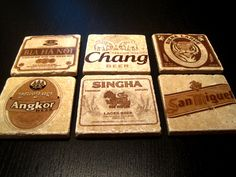 Asian beer coasters.