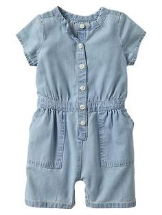 Denim one-piece would be super cute with a bow or something!!