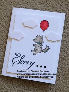 Handmade Cards; Handmade Sympathy Cards; Pet Sympathy; Pet Sympathy Card; Bella and Friends; Umbrella Weather Framelits; So Sorry; Stampin' Up!; Tamara's Paper Trail
