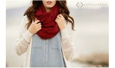 Free Earrings with Scarf Purchase, $8.95 Shipped + BONUS Deal! Cents Of Style, Look Chic, Winter Looks, Autumn Winter Fashion, Fall Fashion, Scarf Styles, Cable Knit, My Style, How To Wear