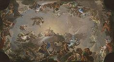 boceto para El Olimpo: batalla con los gigantes o La caída de los gigantes es un óleo sobre lienzo de 68 x 123 cm pintado en 1764 por Francisco Bayeu como preparación para el fresco del techo de la antecámara del cuarto de los príncipes de Asturias del Palacio Real de Madrid. Bayeu fue requerido por Antonio Rafael Mengs como Pintor de Corte en 1762, y se le encargó un programa completo de decoración de algunos de los Sitios Reales. El boceto se conserva en el Museo del Prado.  Representa el…