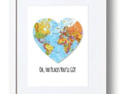 Oh, the place you'll go, Dr. Seuss art print