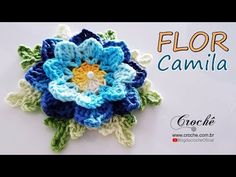 Crochet Brooch, Crochet Diy, Crochet Motif, Crochet Necklace, Crochet Hats, Flower Granny Square, Knitted Flowers, Irish Lace, Crochet Videos