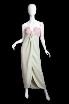 1965 Valentino Silk Pink & Mint Gown