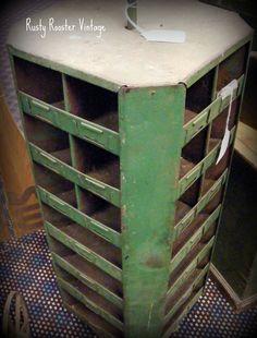 vintage hardware store storage