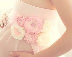 Hermosa Vintage Blush rosa marfil maternidad por BoutiqueByAgnes