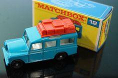 VINTAGE No.12 MATCHBOX SAFARI LAND ROVER BROWN LUGGAGE ORIGINAL BOX 1965 / eBay - #oldtoysandcollectables #vehicles #cars