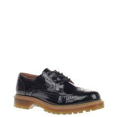 Bronx dames veterschoenen zwart, 211.833.40-10-2