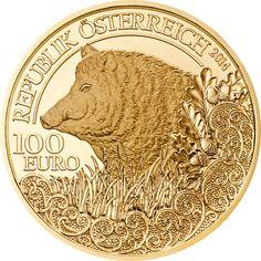 Gold Wildschwein 100 Euro PP - 2014