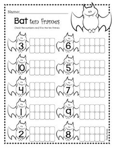 """Halloween Math - Activities- Pumpkin - Ten Frame- Bat - Ten Frame- Pumpking Double Digit - Ten Frame- Halloween - Missing Addend- Pumpking - Missing AddendHope you enjoy!You might also like:""""No, David!"""" Activities Thank you for stopping by. :)___________________________________________________________This material was all made with Cheeky Cherubs clipart.Follow my main character on InstagramCheck out my Pinterest pageFollow me on Facebook"""