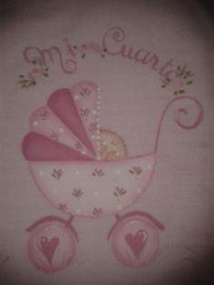 Para el cuarto del bebe pintura sobre tela