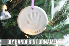 Capture a memory and make this adorable DIY handprint ornament using your child's cute little hand. You'll cherish it for years to come! These ornaments would make great gifts for relatives, too!