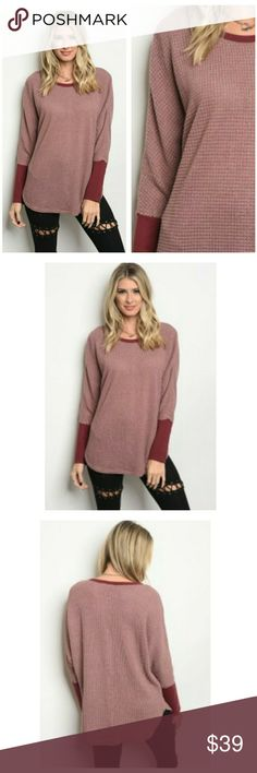 COMING SOON! Mauve Long Sleeve Coming soon. Like to receive notification. Available for pre-order. Will ship in 1-2 weeks.   Brand new. Excellent condition. Long-sleeve mauve tunic top.  Sizes: S, M, L MEASUREMENTS - coming soon  Material: 90% Polyester, 5% cotton, 5% spandex  Comfortable and causual look. Mix and match with jeggings, leggings, or skinny jeans! Holiday causal, fall fashion. Tops