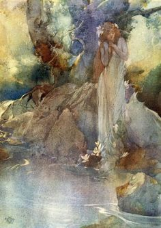 'Iolanthe or The Peer and the Peri' by W.S. Gilbert. With Coloured Illustration by William Russell Flint. Published 1911 by George Bell & Sons, Ltd., London.