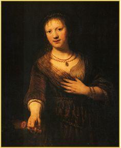 꽃을 든 사스키아의 초상 - 렘브란트 1641 <003.꽃과 엄마> 이 사진은 렘브란트가 죽어가는 아내를 그린 그림으로 널리 알려져 있다. 창백한 표정으로 간신히 서있는 듯 한 이 여인의 손에는 전통적인 사랑을 의미하는 붉은 카네이션을 들고 있다. 이 사진을 보자마자 우리 엄마가 떠오른 이유는 무엇일까?