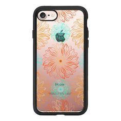 Autumn Sunflowers - iPhone 7 Case And Cover ($40) ❤ liked on Polyvore featuring accessories, tech accessories, iphone case, apple iphone case, clear iphone case, iphone cases and iphone cover case