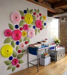Decoració per parets amb colors vius