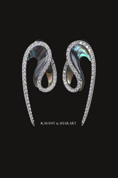 Kavant & Sharart Phoenix Collection - Abalone Shell & Diamond earrings