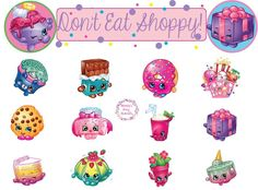 Shopkins Party Game, Don't Eat Shoppy! See this free printable party game at Mandy's Party Printables   mandyspartyprintables.com!
