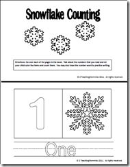 Snow and Ice Counting Book and Magnet Pages