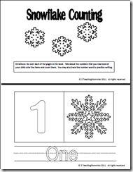 Snowflake counting printable preschool
