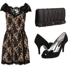 Nina shoes and bag paired with lace dress
