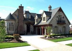 Elevation of European French Country Tudor House Plan 42820 (look at other house plans on this site) The Plan, How To Plan, Casa Real, Tudor House, French Cottage, French Country House, Farm Cottage, New House Plans, House Floor Plans
