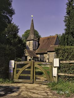 Chaldon Church in Surrey. It was founded by the Saxons.