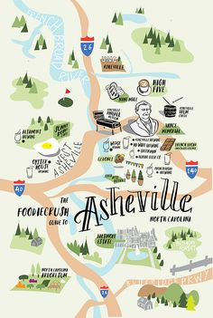 Calling all beer and nature lovers If you appreciate century mansions all decked out for the holidays fresh mountain air and craft suds you might want to book a trip to Asheville stat. Perched in Visit Asheville, Asheville North Carolina, Map Of Asheville Nc, Western North Carolina, North Carolina Mountains, Cashiers North Carolina, Asheville Food, Asheville Restaurants, Oh The Places You'll Go