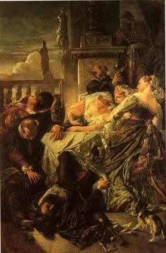 Smrt Pietra Aretina (1854) Anselm Feuerbach