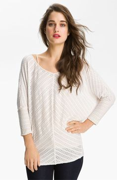 Velvet Batwing Pointelle Knit Top available at #Nordstrom