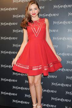 Miranda Kerr, who I really look up to. Love the dress! Thinspiration AND Fashion Inspiration.