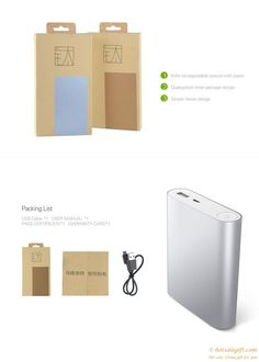 Aluminum alloy shell Mi 10,400 mA mobile power gift