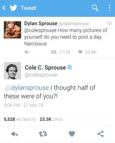 Lol I love the Sprouse twins <3