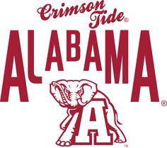 Alabama Crimson Tide and mascot Alabama Basketball, Alabama Athletics, Alabama Crimson Tide Logo, Crimson Tide Football, University Of Alabama Logo, Alabama Elephant, Sweet Home Alabama, Vinyl Shirts, Roll Tide