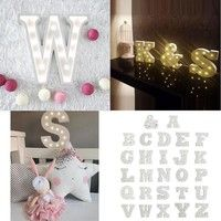 Wish | Creative Wood 26 Letter Nordic LED Light Wall Sign Vintage Wedding Party