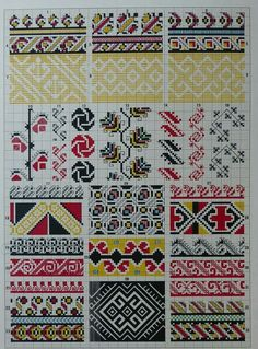 Hello all, I recently received a request as to how to tell the difference between Ukrainian Bukovyna embroidery and Romanian Bucov. Blackwork Embroidery, Folk Embroidery, Embroidery Patterns Free, Needlepoint Patterns, Cross Stitch Embroidery, Knitting Patterns, Cross Stitch Borders, Cross Stitch Charts, Cross Stitch Patterns