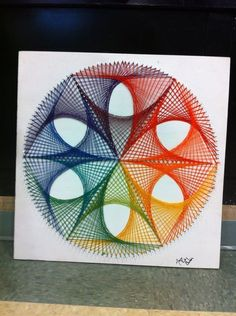 String Art DIY Crafts Kit - String together this awesome string art kit with String of the Art! Within hours you can display this completely unique crafts project. Instructions are a piece of cake. String Wall Art, Nail String Art, String Crafts, Arte Linear, String Art Patterns, Spirograph, Math Art, Art Du Fil, Thread Art