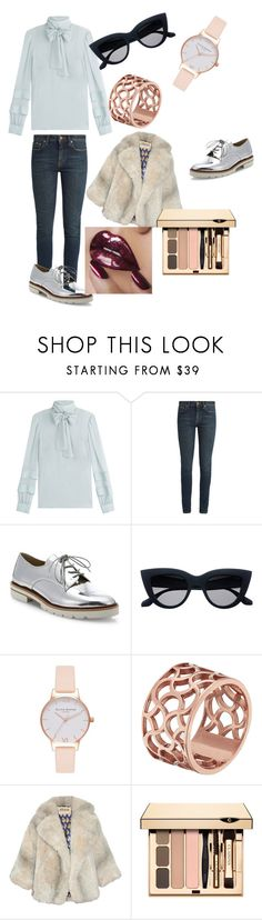 """Look who just breezed through the door"" by katrinalester123 ❤ liked on Polyvore featuring RED Valentino, Yves Saint Laurent, Stuart Weitzman, Olivia Burton, Tartesia and A.W.A.K.E."