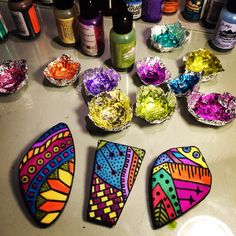 WIP Polymer clay and alchol ink
