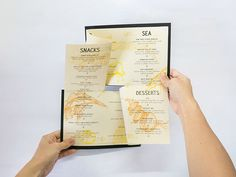 Presenting symmetry as a balance of food, drinks, music and life, this hand-assembled, uniquely-folding menu is a mirror image of a good time.
