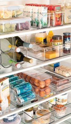 Kitchen Organization Pantry, Refrigerator Organization, Diy Kitchen Storage, Home Organization Hacks, Organized Kitchen, Organizing Ideas, Fridge Storage, Closet Organization, Bathroom Storage