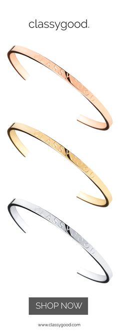 Die classygood. Armreifen in gold, roségold und silber sind da. Alle Armspangen sind in 2 unterschiedlichen Größen verfügbar. www.classygood.com