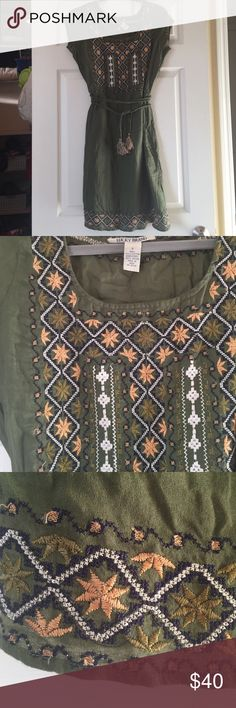 Lucky Brand Embroidered dress Beautifully embroidered Lucky Brand dress, only worn a few times. 100% cotton Lucky Brand Dresses