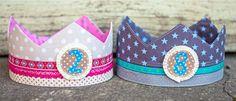 Genähte Kronen für den Kindergeburtstag - Schnittmuster und Nähanleitung gratis via Makerist.de