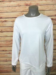 Susan Graver long sleeve knit top womens size M 8% spandex travel work casual #SusanGraver #KnitTop #Casual