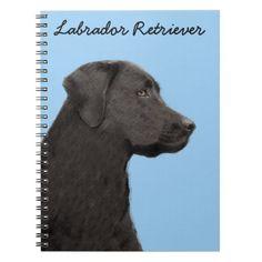 #Labrador Retriever (Black) Notebook - #labrador #retriever #puppy #labradors #dog #dogs #pet #pets