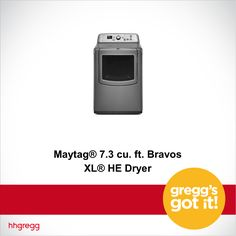 The Maytag Bravos XL HE Dryer evenly dries your largest loads of laundry: